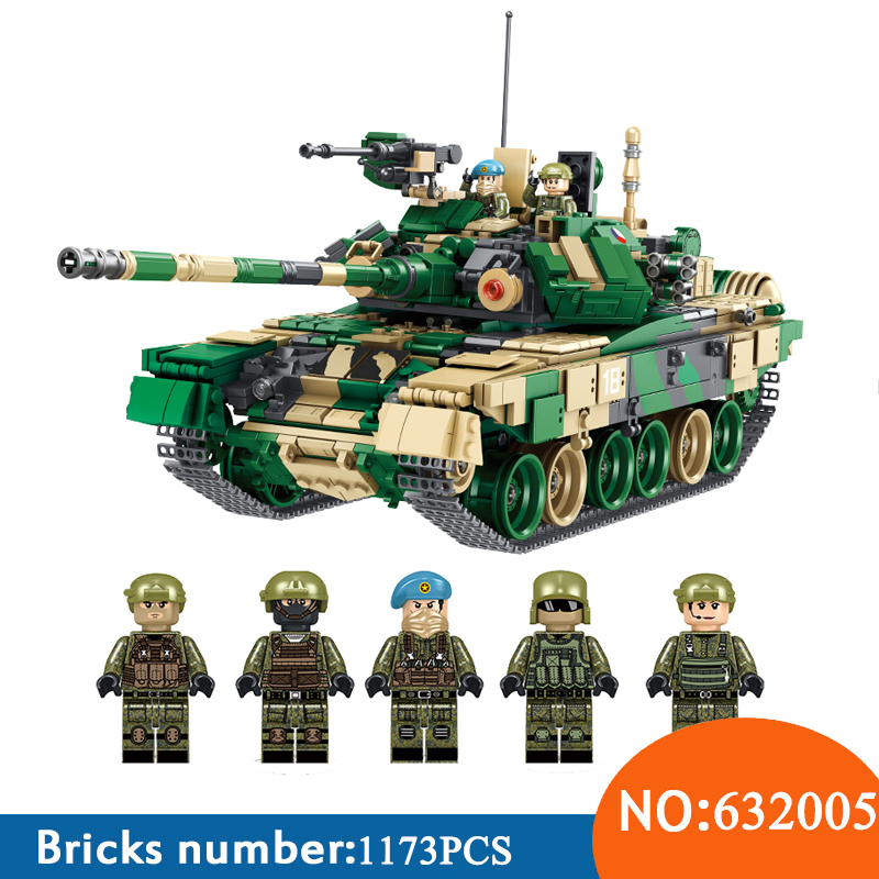 AIBOULLY 1773pcs 632005 Military T 90 Main Battle Tank with SWAT Minifigure Model Sets Building Blocks