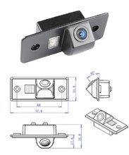 CCD sony чип Цвет автомобилей Резервное копирование заднего вида Обратный Парковка Камера для VW TIGUAN TOUAREG Сантана PASSAT поло Sharan golf V вариант