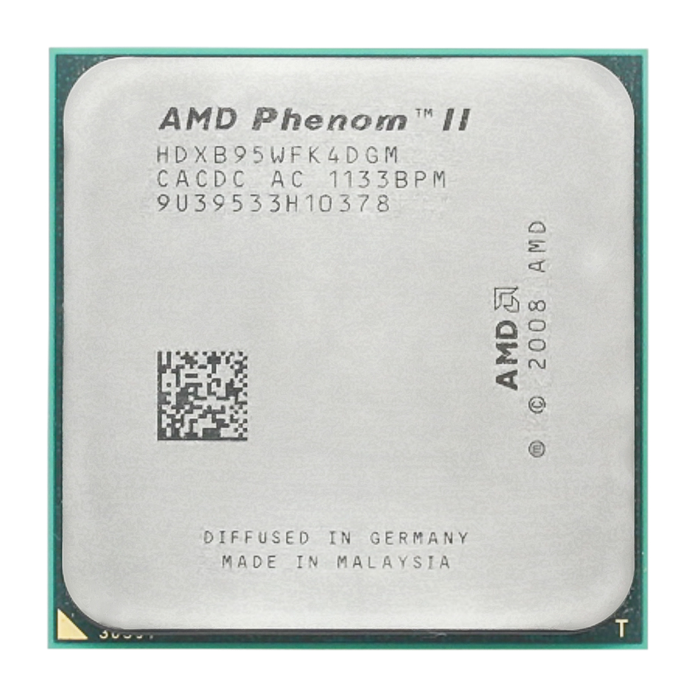 AMD Phenom II X4 B95 Quad-Core CPU Processor (3.0Ghz/6M/95W/ 2000GHz Socket am3 am2+ 938 pin)