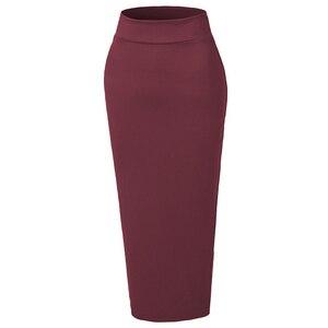 Image 4 - Saia comprida de algodão, saia lápis de algodão para mulheres islâmicas, roupas de fundo para o tornozelo comprimento do comprimento