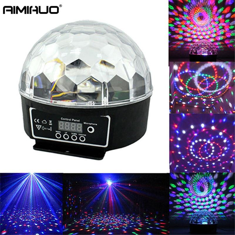 AIMIHUO RGB DMX512 Digital Crystal Magic Ball Stage Light Projector Effect LED Light KTV mini lase