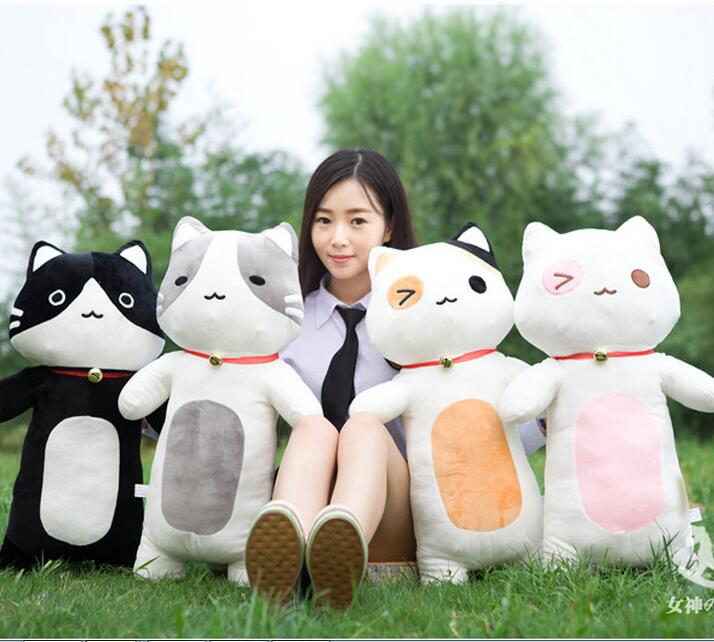 70cm The cat big size plush toys nap pillow cushion strip boyfriend girlfriend birthday gift cute cartoon doll cartoon rabbit brown bear cat plush toys doll waist cushion and pillow cushion for automobile