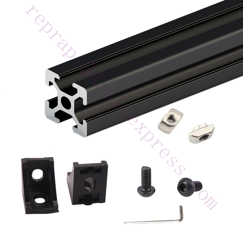 Expedited ship, One Set Black HyperCube 3D Printer Aluminium Extrusion Profiles - 200mm Cubic Build Volume 3D Printer Frame Kit цена