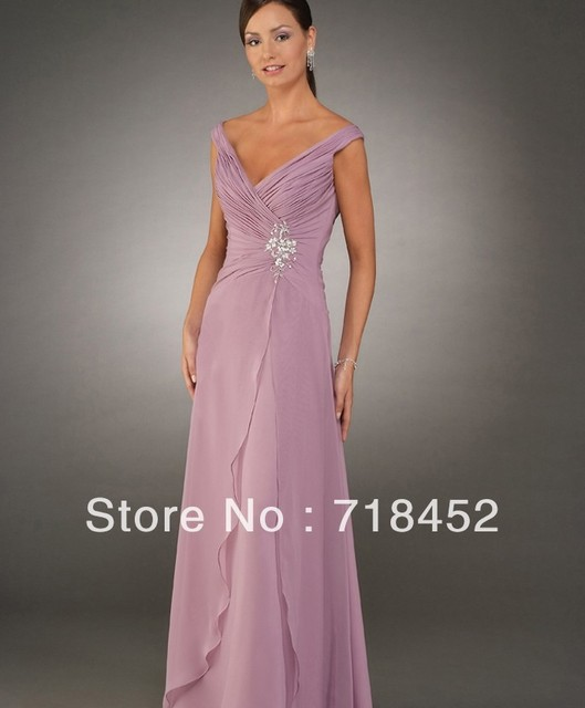 c56a4a7c525 Custom Wholesale Price V Neck Mother of the Groom Dresses A Line Floor  Length Free Shipping BN811