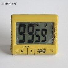 ЖК-дисплей цифровой кухонный таймер обратного отсчета с громким сигналом большие часы магнитный Таймер для приготовления пищи милый кухонный гаджет инструмент Декор