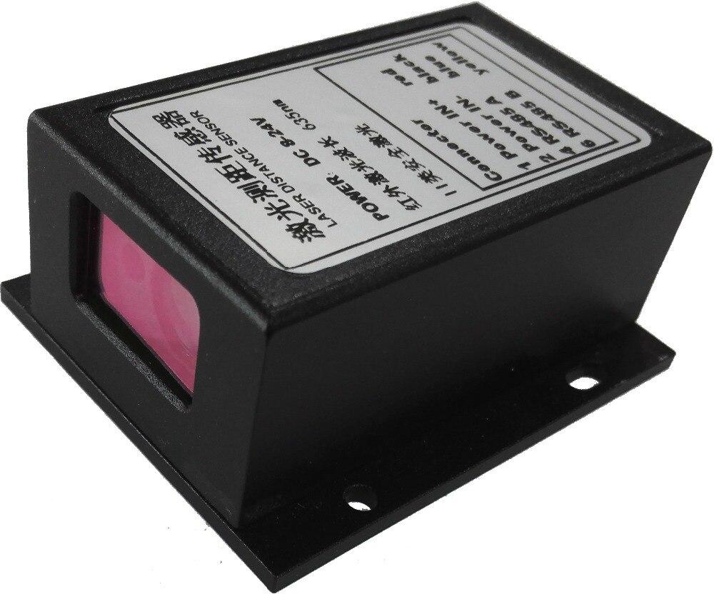 CANBUS/MODBUS 485 + 2mm 10Hz 70 m Trifase Ad Alta Precisione Telemetro laser Che Vanno Sensore Industriale Sensore di Distanza Laser 635nm - 5