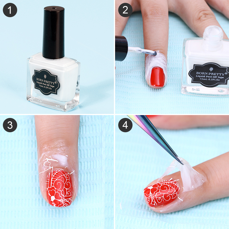 Born Pretty 15ml White L Off Liquid Tape Easy Clean Base Coat Nail Finger Skin Protected Palisade Art Latex 22612 In Polish From Beauty