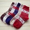 Hot Sale Autumn Winter Christmas sock women sock Wool Socks christmas deer candy color perfect elastic Free Shipping