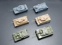 6PCS Set 4D Assembled Plastic Tiger Tanks World War II Germany US The Soviet Union Tank