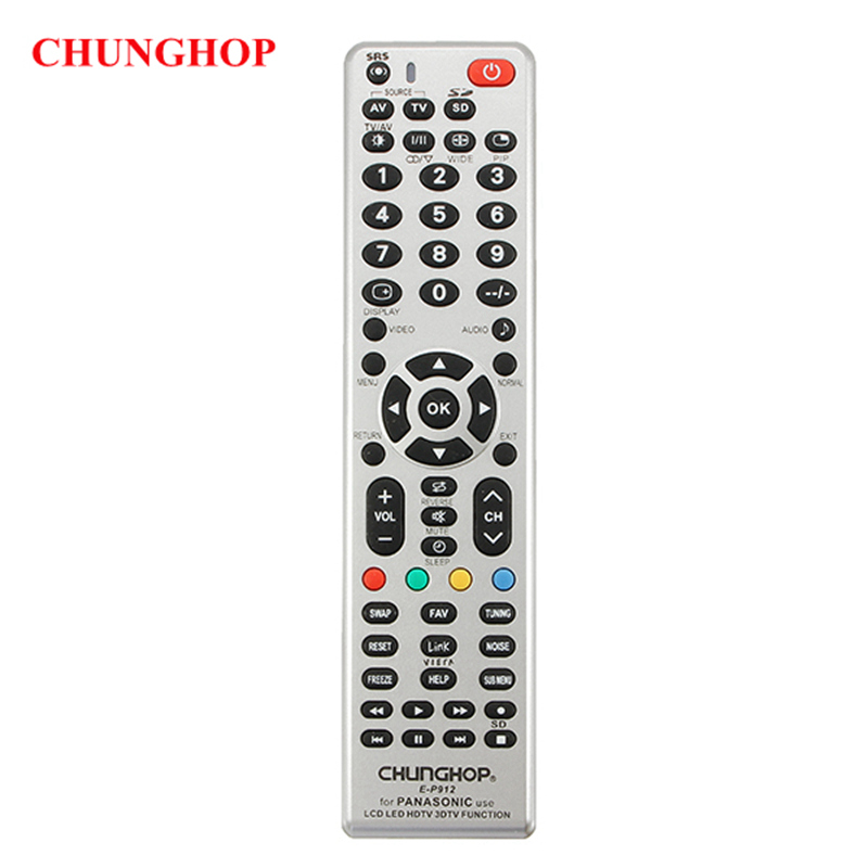 CHUNGHOP E-P912 Remote Control Replacement For Panasonic LCD LED HDTV 3DTV Wholesale chunghop rm l7 multifunctional learning remote control silver