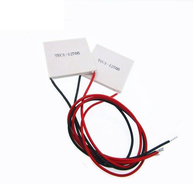 5pcs/lot TEC1 12705 Thermoelectric Cooler Peltier 12705 12V 5A Cells, TEC12705 Peltier Elemente Module