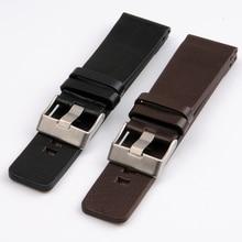 28mm 30mm 32mm 34mm High Quality Genuine Calf Hide Leather Watchbands For Diesel Watch Strap Band men's wrist watch bracelet
