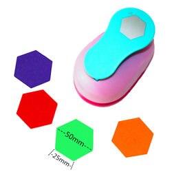 Grande 2 ''hexagon pugno pape rpunches cutter artigianato scrapbook dispositivo di Goffratura del capretto punzonatrici cortador de papel