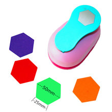 """free ship large 2"""" hexagon punch pape rpunches cutter crafts scrapbook Embossing device kid hole punches cortador de papel"""