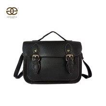 Bolso de bandolera para mujer con solapa, estilo satchel. PU liso Diseño famoso.