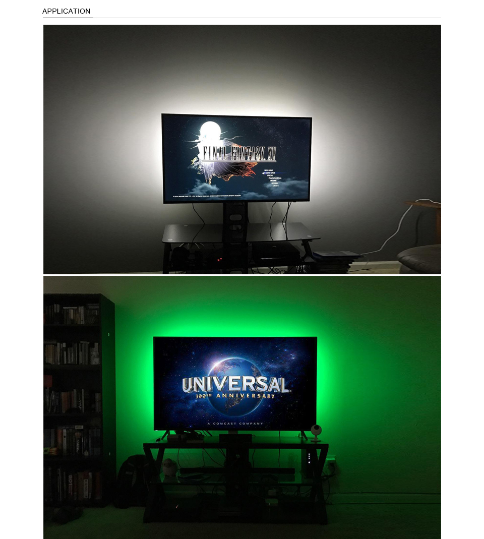 HTB1kSlAaMb.PuJjSZFpq6zuFpXaz TV Backlight RGB LED Strip 5050 Waterproof 5V USB LED Tape String Bias lighting For HDTV Screen Desktop PC LCD Monitor Decor
