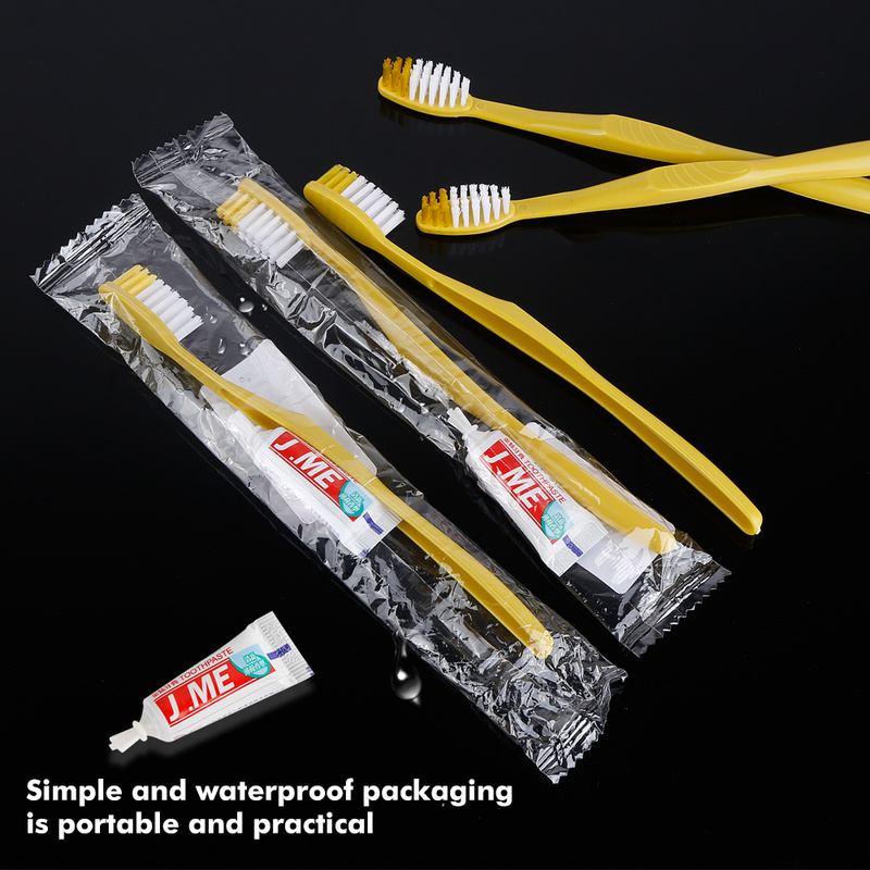 1/4PCS Portable Hotel Disposable Toothbrush with Toothpaste Kit supplies Convenient Plastic Camping travel wash gargle Tool image