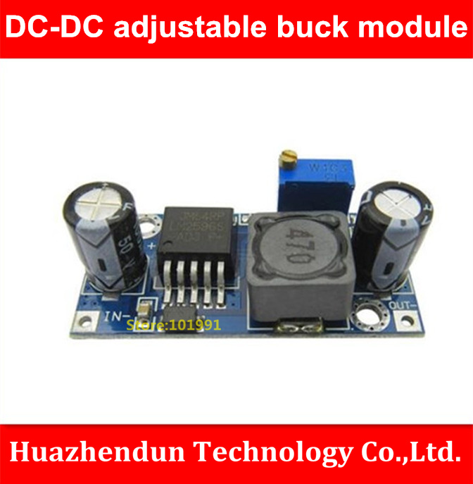 New Arrivals  1pcs-LM2596S-ADJ  Power Supply Module  DC-DC  Adjustable Buck Module  5V/12V/24V voltage stabilization  3A dc dc lm2596 adjustable power buck module 24v to 48v 12v 24v turn 12v 5v
