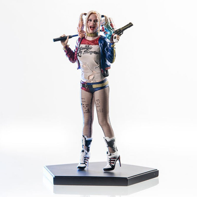 Free Shipping 7 DC Anime Suicide Squad Harley Quinn Crazy Hero Boxed 19cm PVC Action Figure Collection Model Doll Toys Gift free shipping 7 anime super sonico with macaroon tower boxed 17cm pvc action figure collection model doll toy gift
