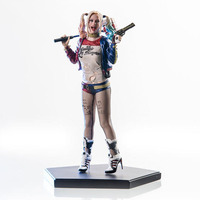 Free Shipping 7 DC Anime Suicide Squad Harley Quinn Crazy Hero Boxed 19cm PVC Action Figure