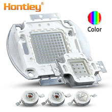 Chips LED multicolores de alta potencia Hontiey, 1, 3, 5, 10, 20, 30, 50, 100w, Watts, azul real, verde, rojo, naranja, amarillo, COB Matrix, abalorios(China)