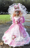Hot Sell 41CM European Style Victoria Style Russia Ceramic Classical Doll Noble Porcelain Doll High Quality