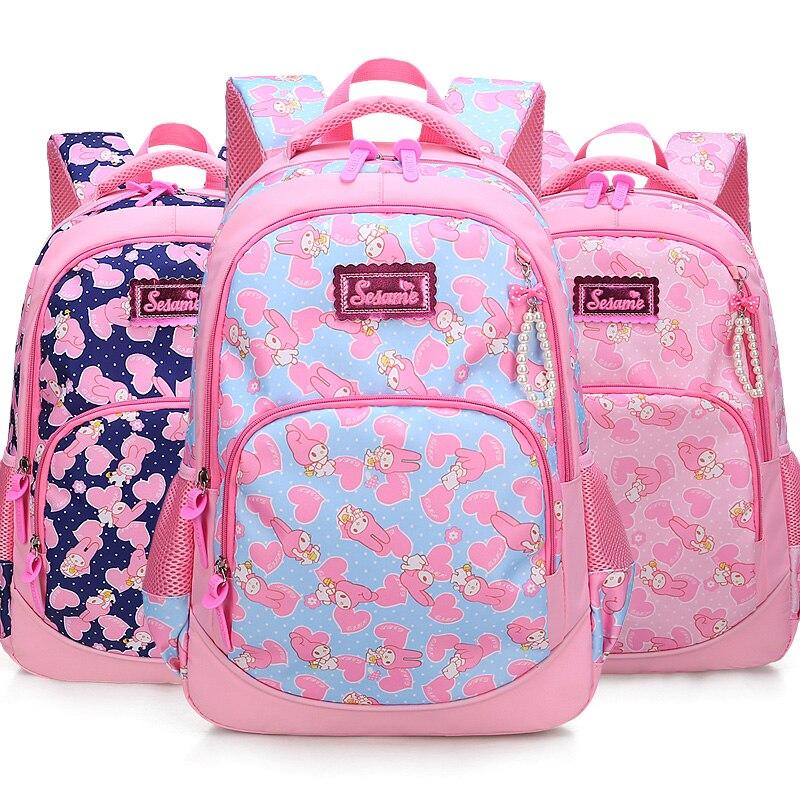 Childrens backpack pink girls School backpack 2018 new breathable student school bags Leisure cartoon mochila infantil escolar