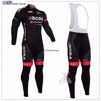 2017 Winter Fleece Thermal Cycling Team Bora Cycling Jersey Wear Clothing Maillot Ropa Ciclismo Mtb Bike