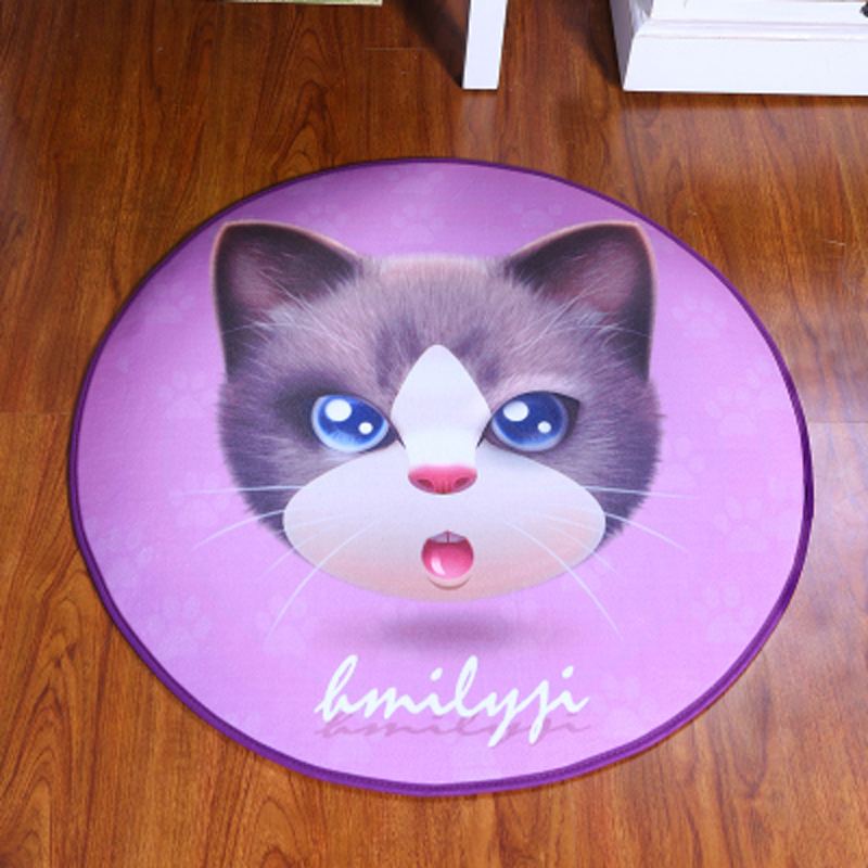 Pet Print Round Cat Kids Bedroom Soft Carpets Kitchen Carpet Rugs For  Computer Chair Mat Rugs Dog Carpets For Home Living Room In Carpet From  Home U0026 Garden ...