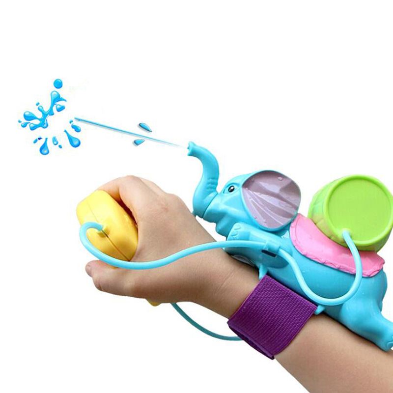 Kids Animal Water Spray Elephant Play Water Toys Summer Water Hammer Wrist Water Gun Interactive Game Toys For Children Bath Toy