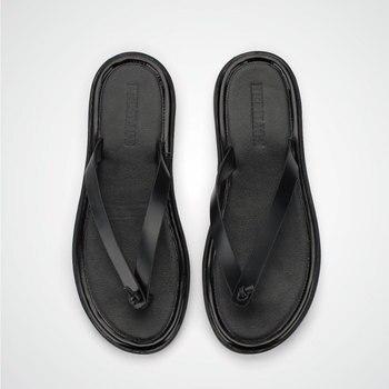 Summer flip flops men's slippers beach sandals leather fashion pinch casual sandals