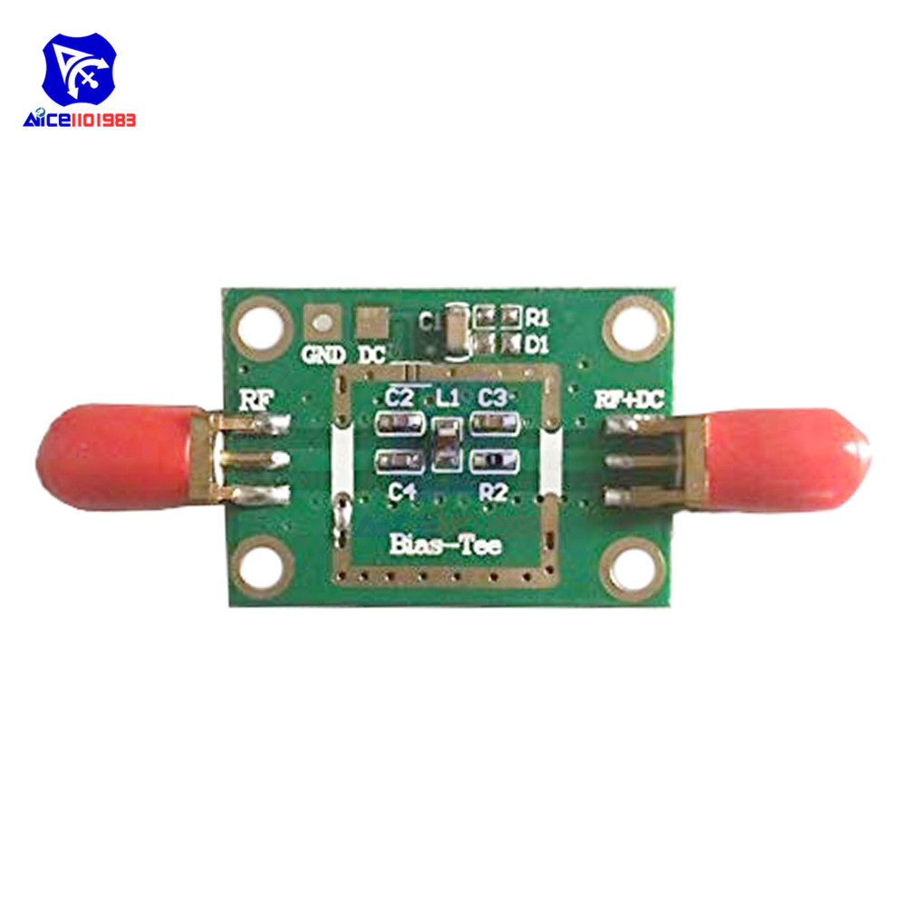Bias Tee Wide Band Frequency 10MHz -6GHz RC DF Blocks for HAM Radio RTL SDR LNA Low Noise Amplifier image