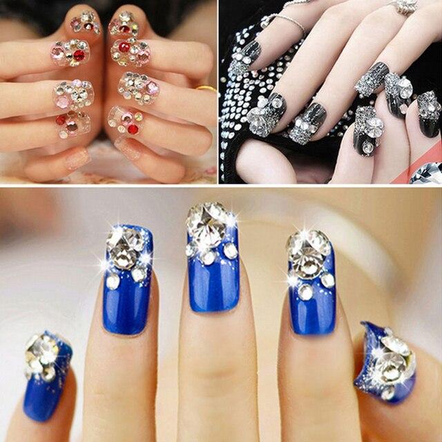 Multicolor de Cristal Rhinestones Coloridos Para El Diseño de Uñas ...