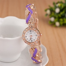 Fashion New Rhinestone Watch Ladies Luxury Brand Alloy Bracelet Quartz Dress Reloj Mujer Clock