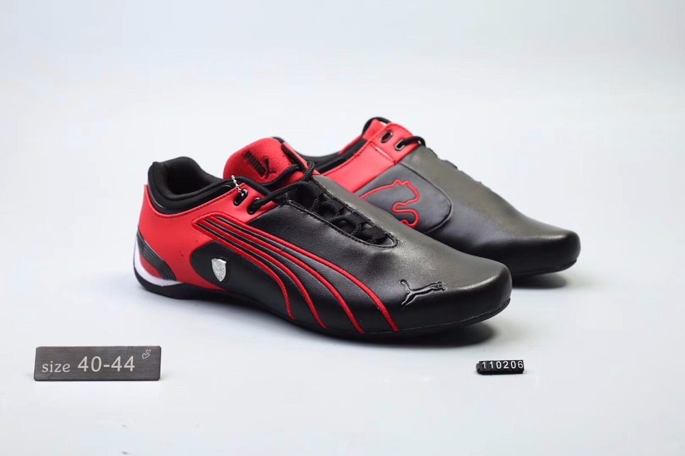 2018Original Puma Future Cat M2 SF Breathable Men's Leather Sneakers Shoes Red/White/Black Badminton Shoes Size40-45