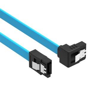 Image 1 - 1 PC de Alta Velocidade Em Linha Reta Ângulo Direito 6 50 CENTÍMETROS 6gbps SATA 3.0 GB/s SATA III SATA Cabo 6 3 flat Cable Cabo de Dados para HDD SSD