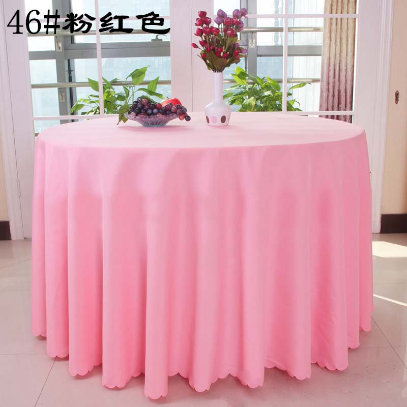 Free Shipping 10pcs Pink Round Polyester Table Cloths Wedding Table Cloths  Banquet Event Hotel Decorative Table Covers In Tablecloths From Home U0026  Garden On ...