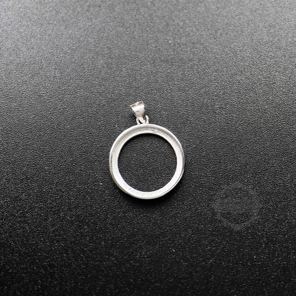 12-20mm Round 925 Sterling Silver Bezel Setting Tray DIY Pendant Charm Supplies 1411205