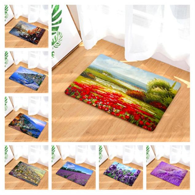 Фото Прованс Франция замок коврик для ванной кухня ковры декоративные Нескользящие