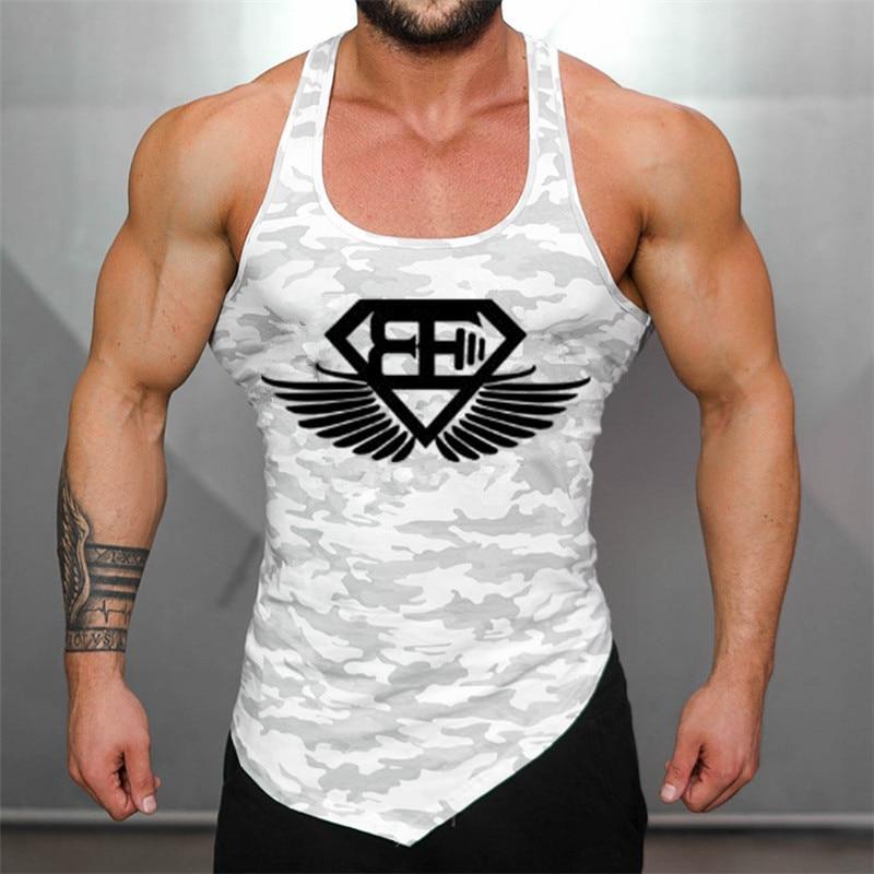 Neue Turnhallen Schädel Superman Marke kleidung Bodybuilding Fitness Männer Tank Top Golds Gorilla Tragen Weste Stringer sportbekleidung Unterhemd
