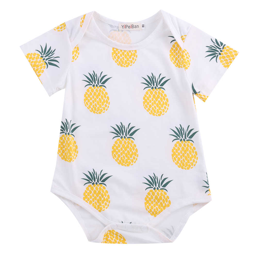 Baby Pineapple Pen 2018 Multitrust Brand Cotton Newborn Baby Girls Summer Clothes Tents And Pineapple Short Sleeve Romper Penapple Outfits