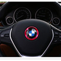 1PCS Universal Interior Steering wheel frame cover trim cover for BMW 1/3/4/5/6/7Series/X1/X3/X5/X6 RED COLOR