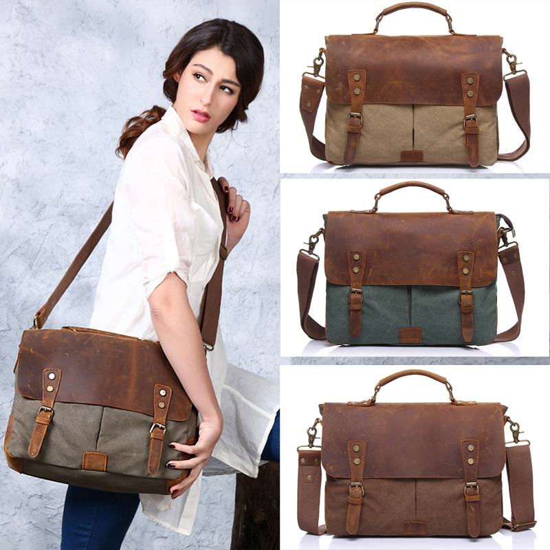 2016 New Design Fashion Canvas with Leather Women Bags High ...