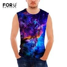 все цены на FORUDESIGNS mens print tank top Galaxy Animal Orangutan Sleeveless Shirt Elastic Stringer Funny Summer Undershirt Male Singlet  онлайн