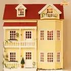 Cutebee DIY Casa miniatura con muebles LED música polvo cubierta modelo bloques De construcción juguetes para niños Casa De Boneca - 3