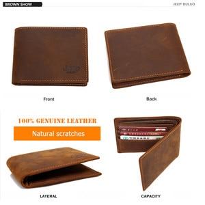 Image 4 - JEEP BULUO 高級ブランド紳士財布ビジネス牛本革の男性のカード財布財布最高品質ショート Carteira Masculina
