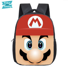 Cartoon Mario/Sonic Backpack Children School Bags Baby Cute Toddler Backpack Kids Kindergarten Bag Boys Girls Bookbag Best Gift(China)