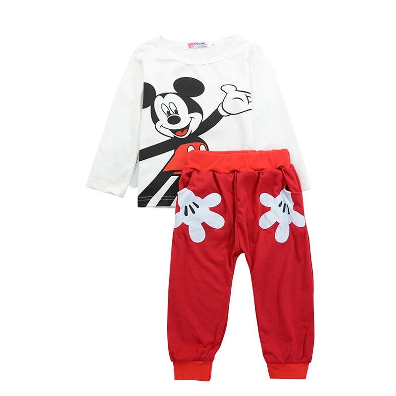 Mickey Baby Boy Clothes Newborn Baby Girl Clothing Set Spring Sports Baby Girl Clothing Set Roupas Bebe Cotton Children Clothing 3