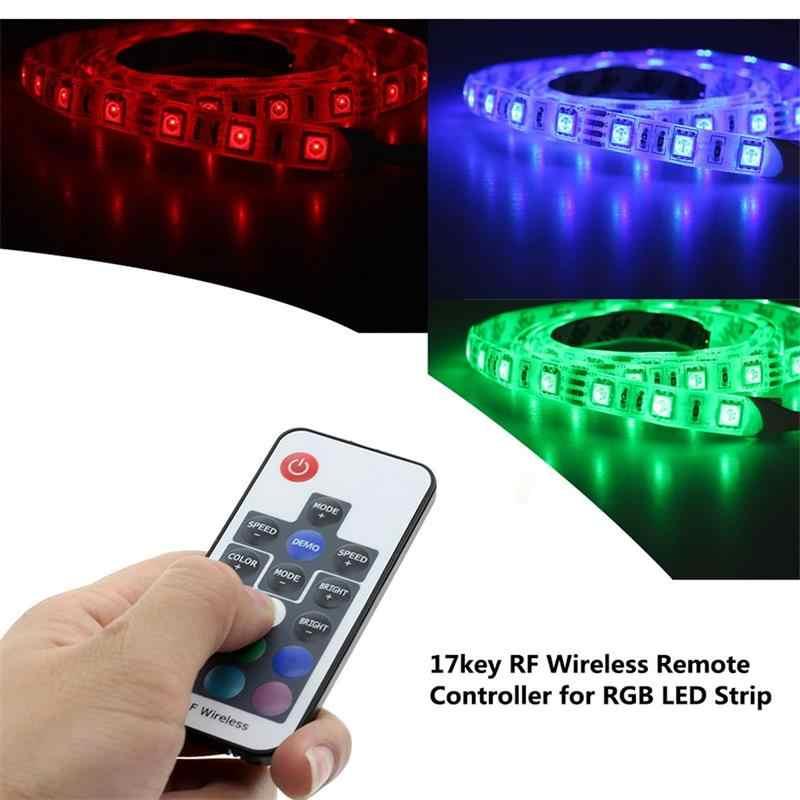 RGB контроллер для DC 5 в USB Светодиодная лента светильник 3 ключа/24 ключа ИК-пульт/17 ключ беспроводной RF контроллер домашний ТВ украшение