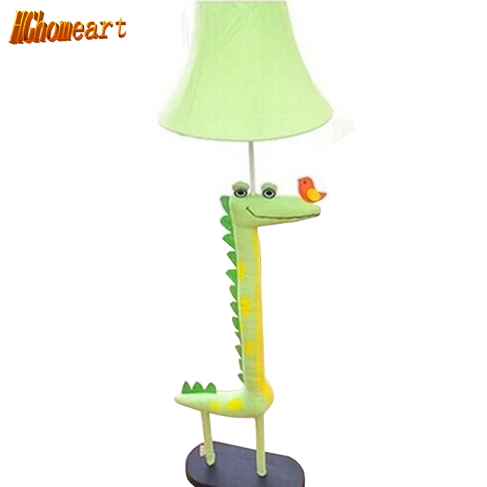 Hghomeart Creative Cartoon Cloth Pastoral Living Room Floor Lamp Bedroom Bedside Lamp for Children Night Reading m sparkling td303 creative cartoon 3d led lamp